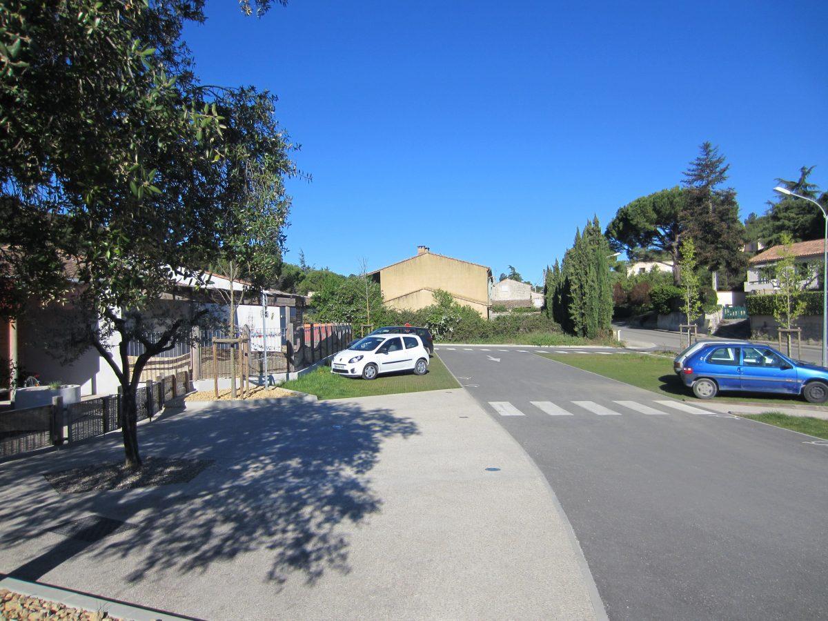 parking végétalisé drainant